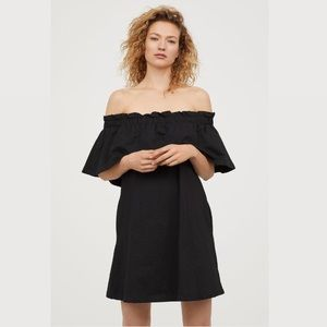 NWT Black Off The Shoulder Dress w/ Pockets